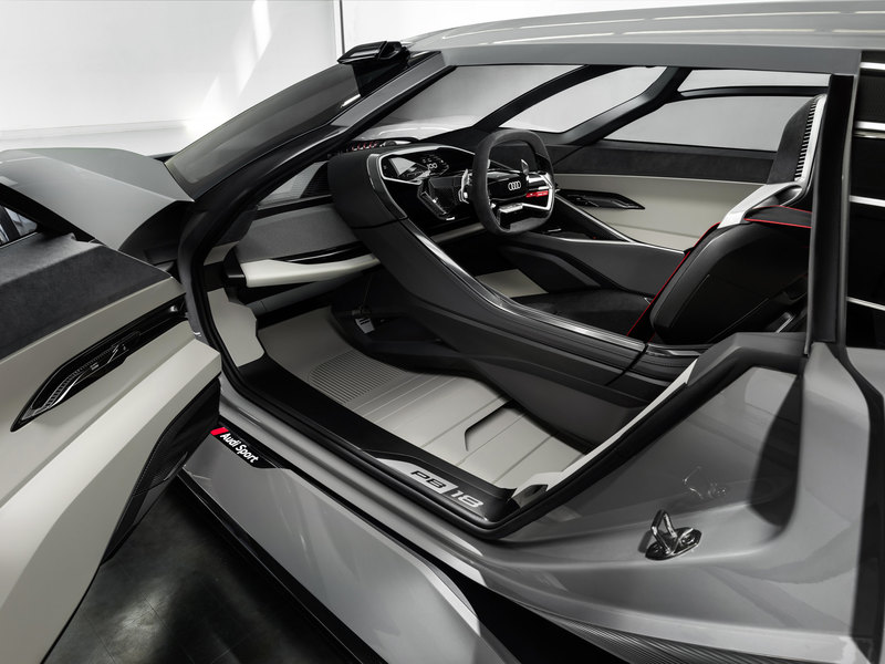 Audi презентовала концепт электрического суперкара PB18 e-tron