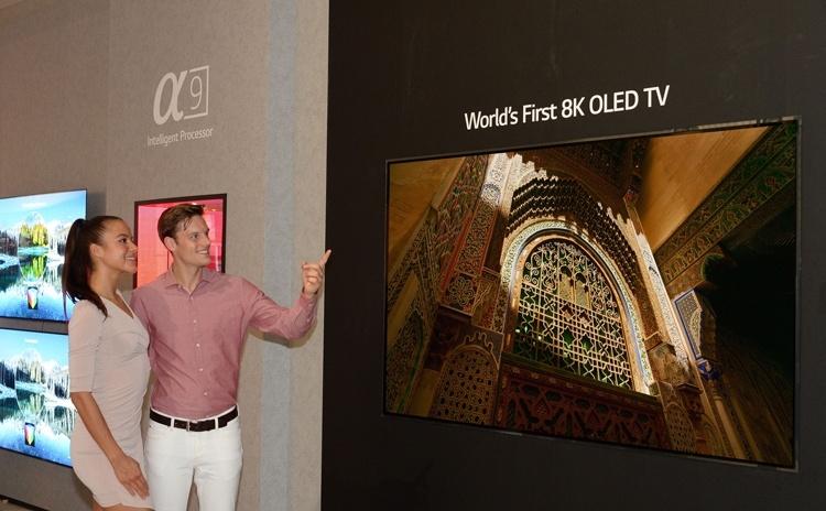 LG представила первый в мире OLED-телевизор формата 8K