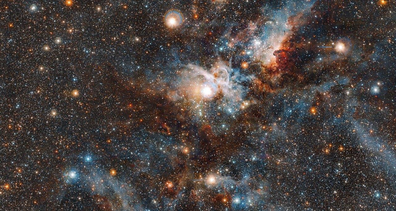 Удивительный снимок туманности Киля