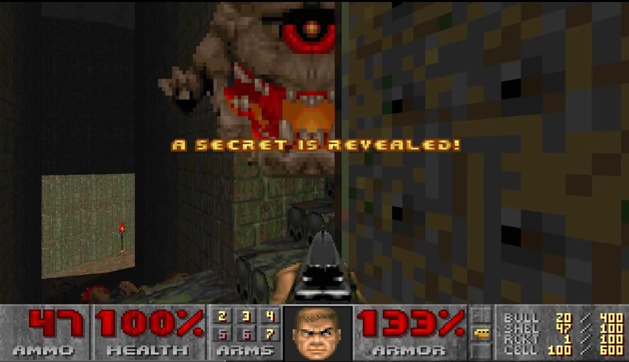 Doom II: Hell on Earth, id Software. Secret No. 4 on Map 15 (Industrial Zone) открыт в обычном игровом режиме - 1