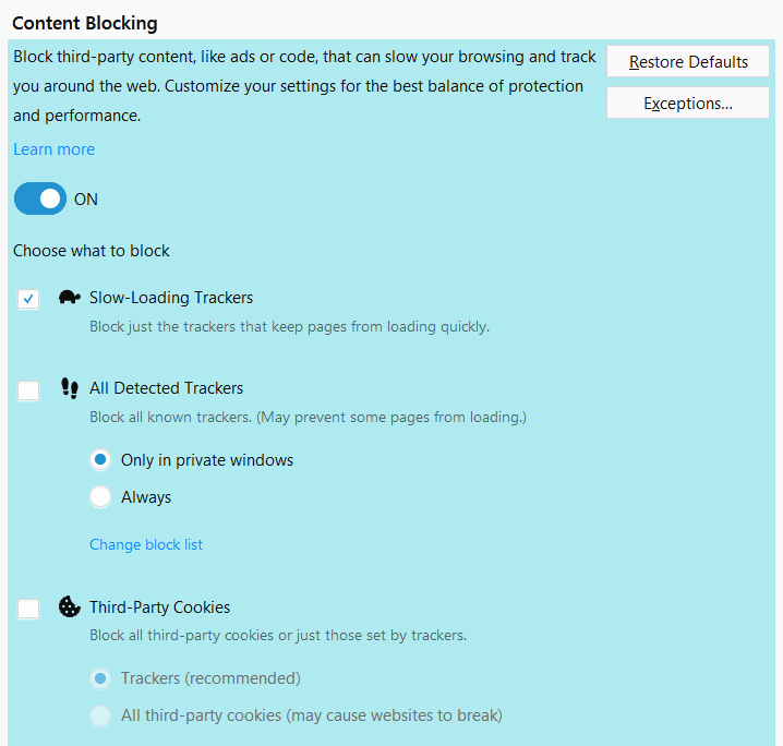 Firefox будет по умолчанию блокировать слежку за пользователями - 4