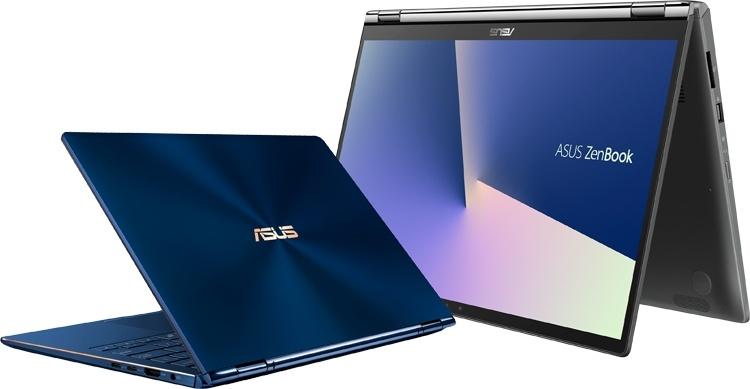 Ноутбуки-трансформеры ASUS ZenBook Flip 13/15 получили чип Intel Whiskey Lake