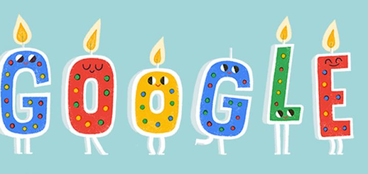 Google празднует 20 лет