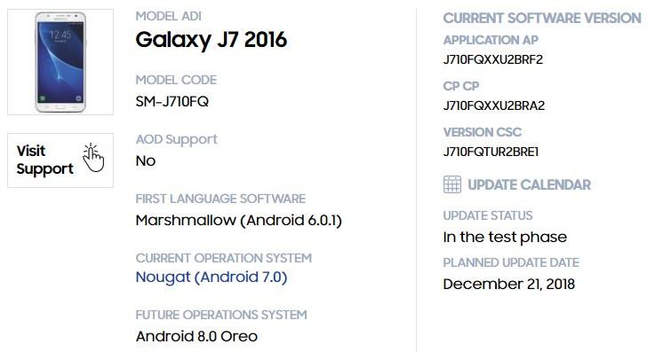 Samsung Galaxy J7 (2016) — первый смартфон данной линейки, который получит два крупных обновления Android