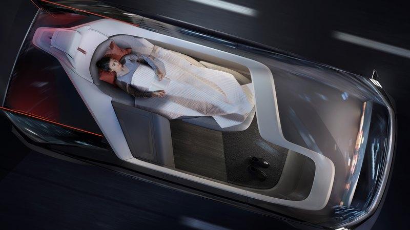 Volvo показала концептуальный беспилотник с кроватью