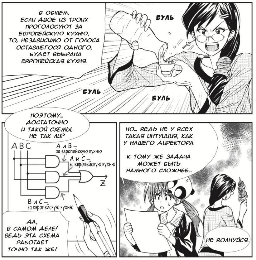Японские феи показывают работу master-slave триггера в новой манге по цифровой электронике - 12