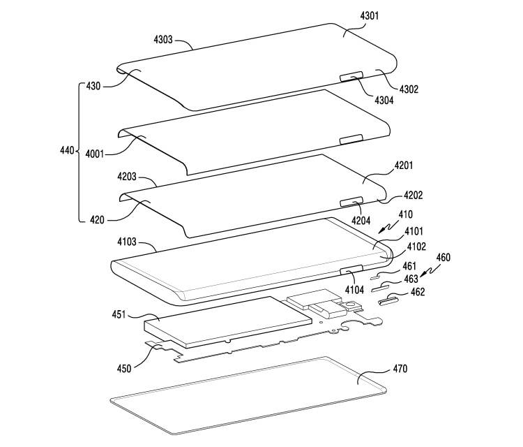 Смартфоны Samsung могут получить изогнутый дисплей с боковыми вырезами