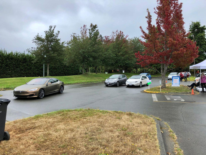 Тест-драйв VW e-Golf, Nissan Leaf и Tesla Model 3 - 21
