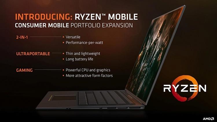AMD представила мобильные процессоры Ryzen 7 2800H и Ryzen 5 2600H