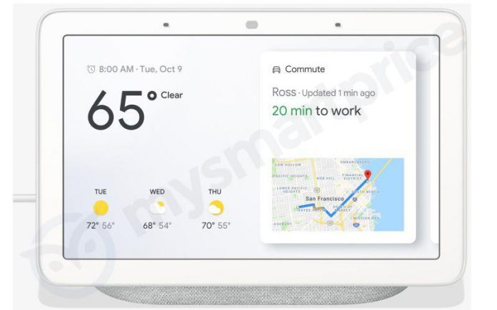 Появились изображения первого смарт-дисплея Google — модели Home Hub