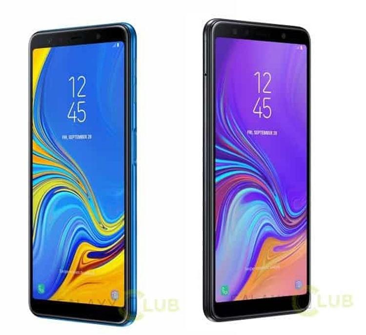 Смартфон Samsung Galaxy A7 (2018) показался на рендерах с тройной камерой
