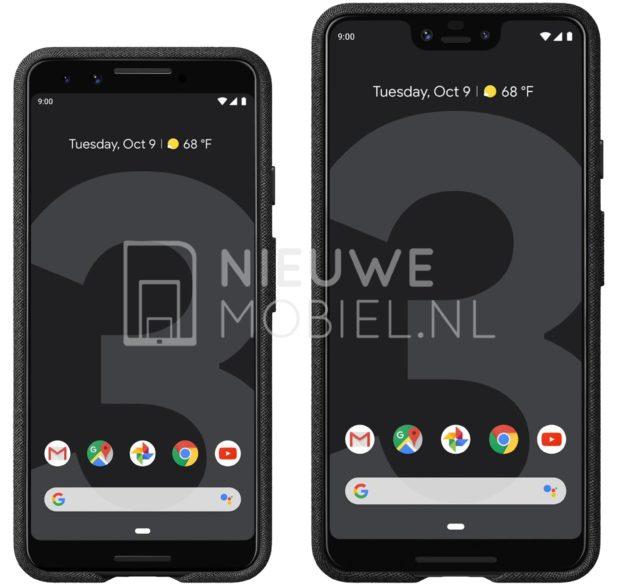 Google Pixel 3 и Pixel 3 XL: новые изображения