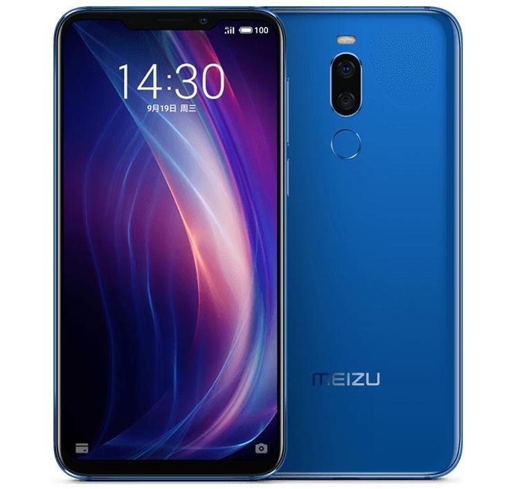 Смартфон Meizu X8 оборудован чипом Snapdragon 710 и экраном с вырезом