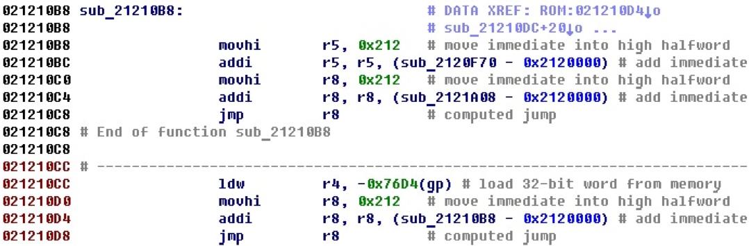 Разрабатываем процессорный модуль NIOS II для IDA Pro - 28