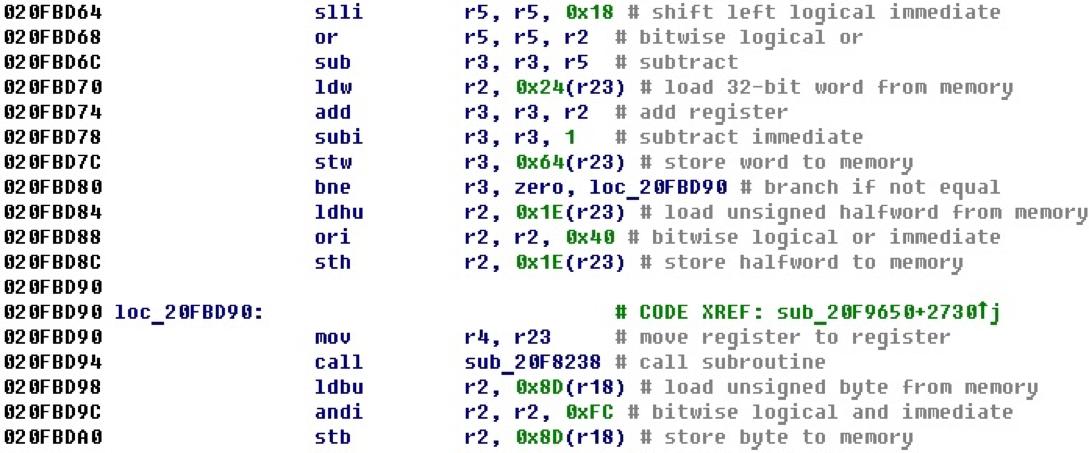 Разрабатываем процессорный модуль NIOS II для IDA Pro - 5