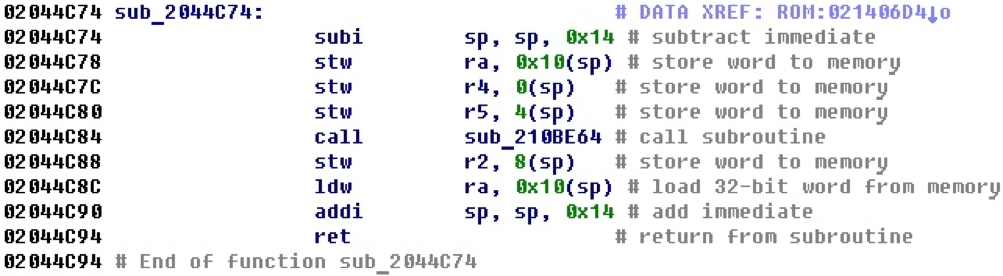 Разрабатываем процессорный модуль NIOS II для IDA Pro - 8