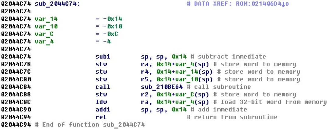 Разрабатываем процессорный модуль NIOS II для IDA Pro - 9