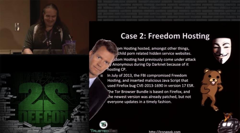 Конференция DEFCON 22. Эдриан Креншоу. На чём могут «спалиться» пользователи TOR - 7