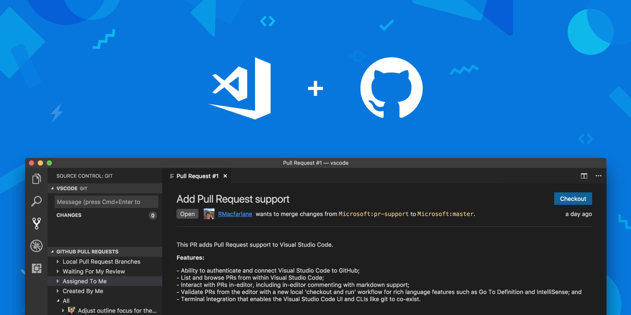 GitHub Pull Requests в Visual Studio Code - 2