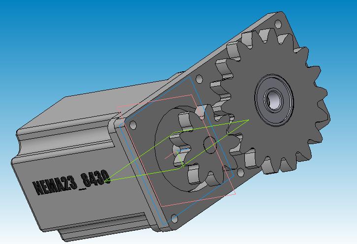 Одноступенчатый редуктор с приводом от Шагового Двигателя - 5
