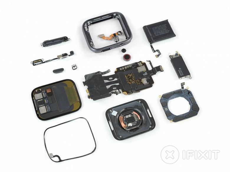 Специалисты iFixit оценили ремонтопригодность умных часов Apple Watch 4 в шесть баллов