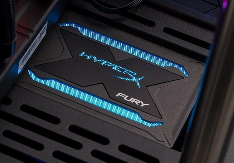 Накопители Kingston HyperX Fury RGB SSD снабжены подсветкой
