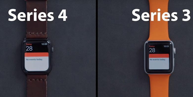 Часы Apple Watch Series 4 в большинстве сценариев не сильно опережают Apple Watch Series 3 по скорости работы