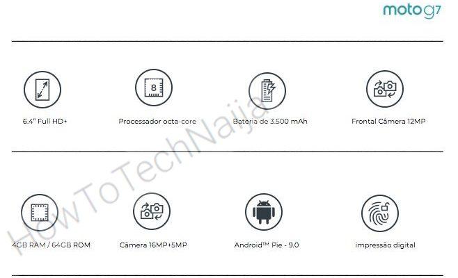Moto G7, характеристики