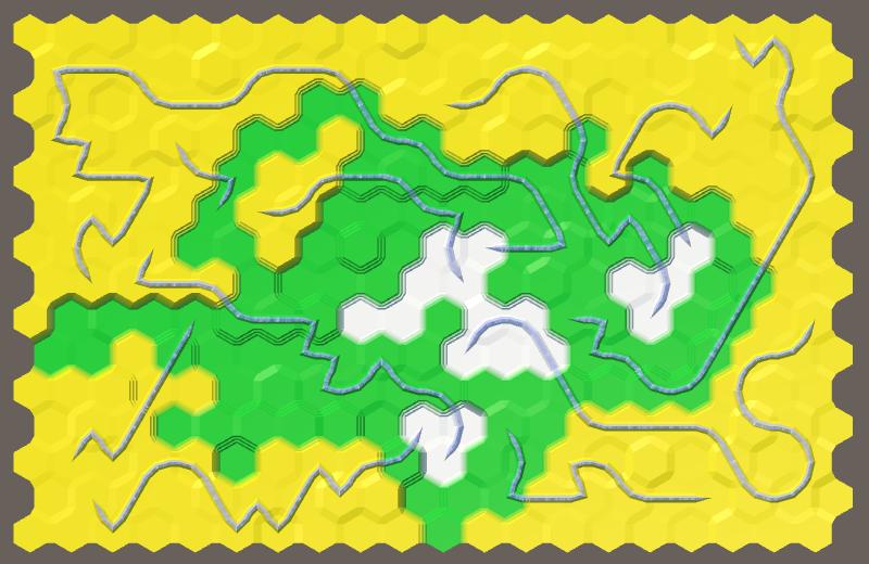 Карты из шестиугольников в Unity: неровности, реки и дороги - 118