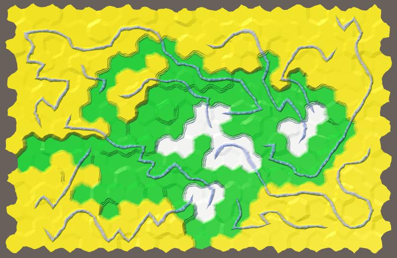 Карты из шестиугольников в Unity: неровности, реки и дороги - 119