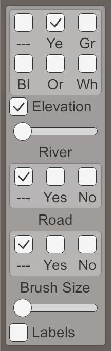 Карты из шестиугольников в Unity: неровности, реки и дороги - 125