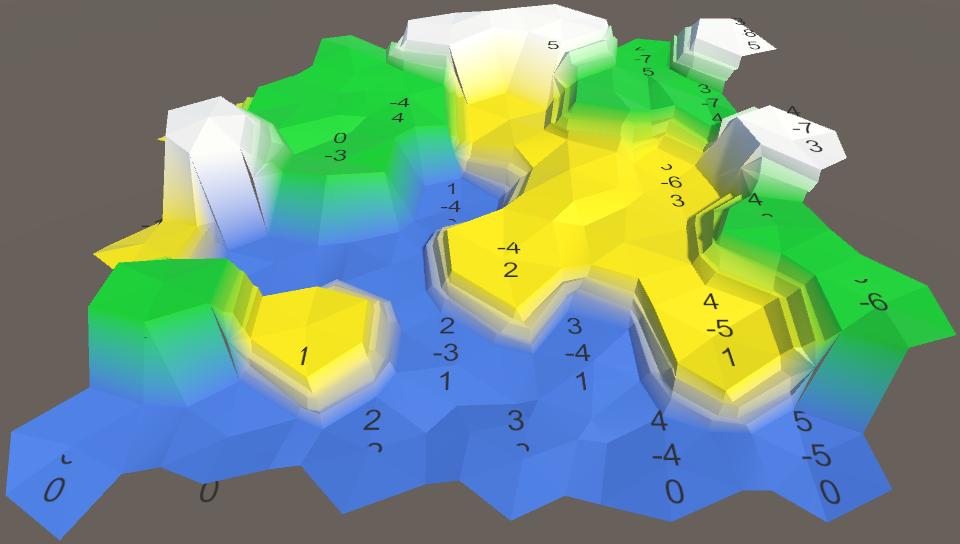 Карты из шестиугольников в Unity: неровности, реки и дороги - 15