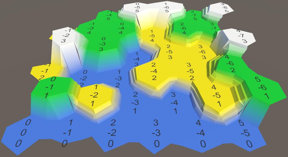 Карты из шестиугольников в Unity: неровности, реки и дороги - 16