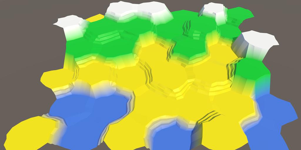 Карты из шестиугольников в Unity: неровности, реки и дороги - 2