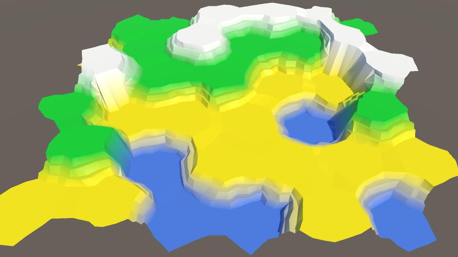 Карты из шестиугольников в Unity: неровности, реки и дороги - 23