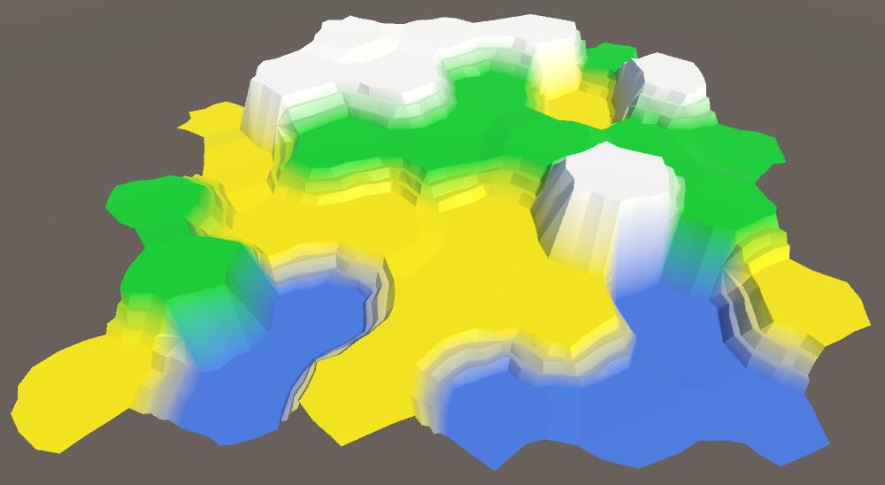Карты из шестиугольников в Unity: неровности, реки и дороги - 31
