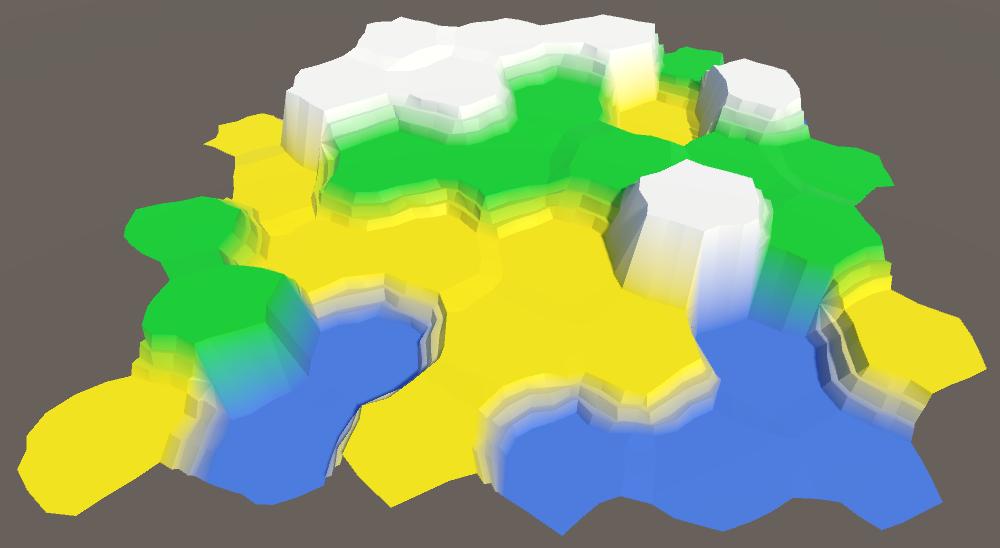 Карты из шестиугольников в Unity: неровности, реки и дороги - 32