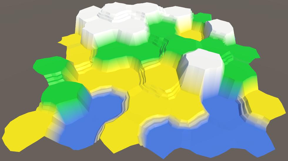 Карты из шестиугольников в Unity: неровности, реки и дороги - 34