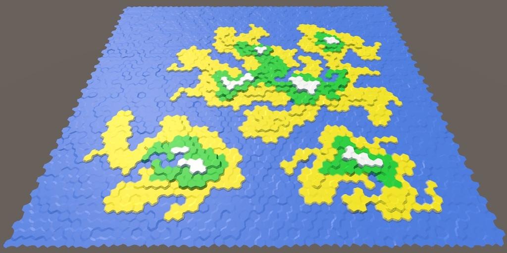 Карты из шестиугольников в Unity: неровности, реки и дороги - 35