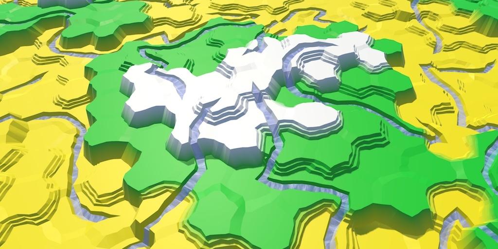 Карты из шестиугольников в Unity: неровности, реки и дороги - 67