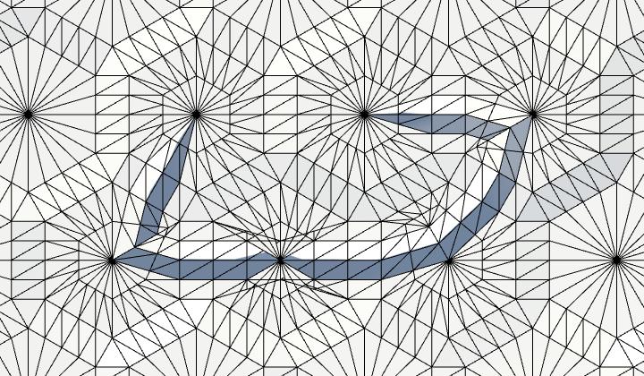 Карты из шестиугольников в Unity: неровности, реки и дороги - 96