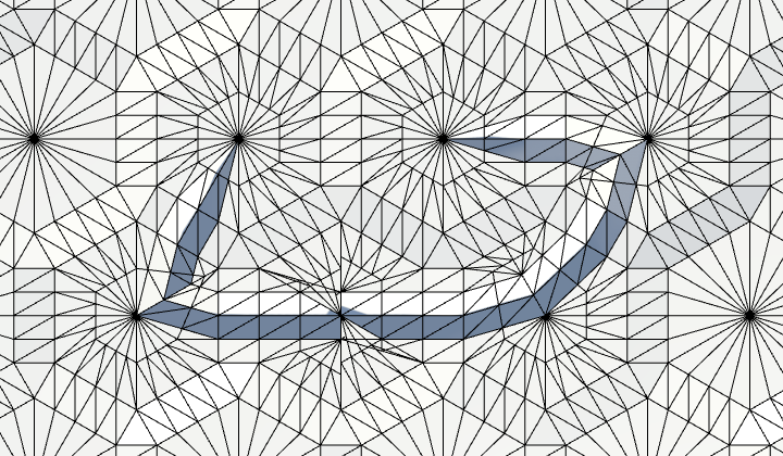 Карты из шестиугольников в Unity: неровности, реки и дороги - 97