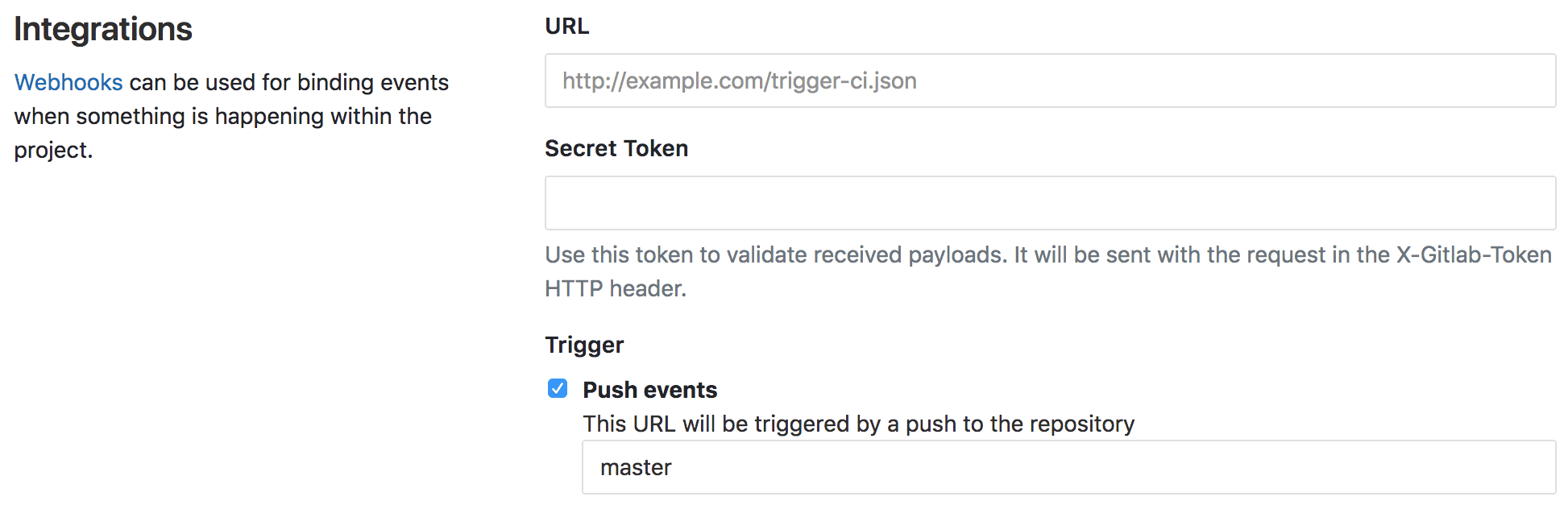 Filter webhook push events by branch
