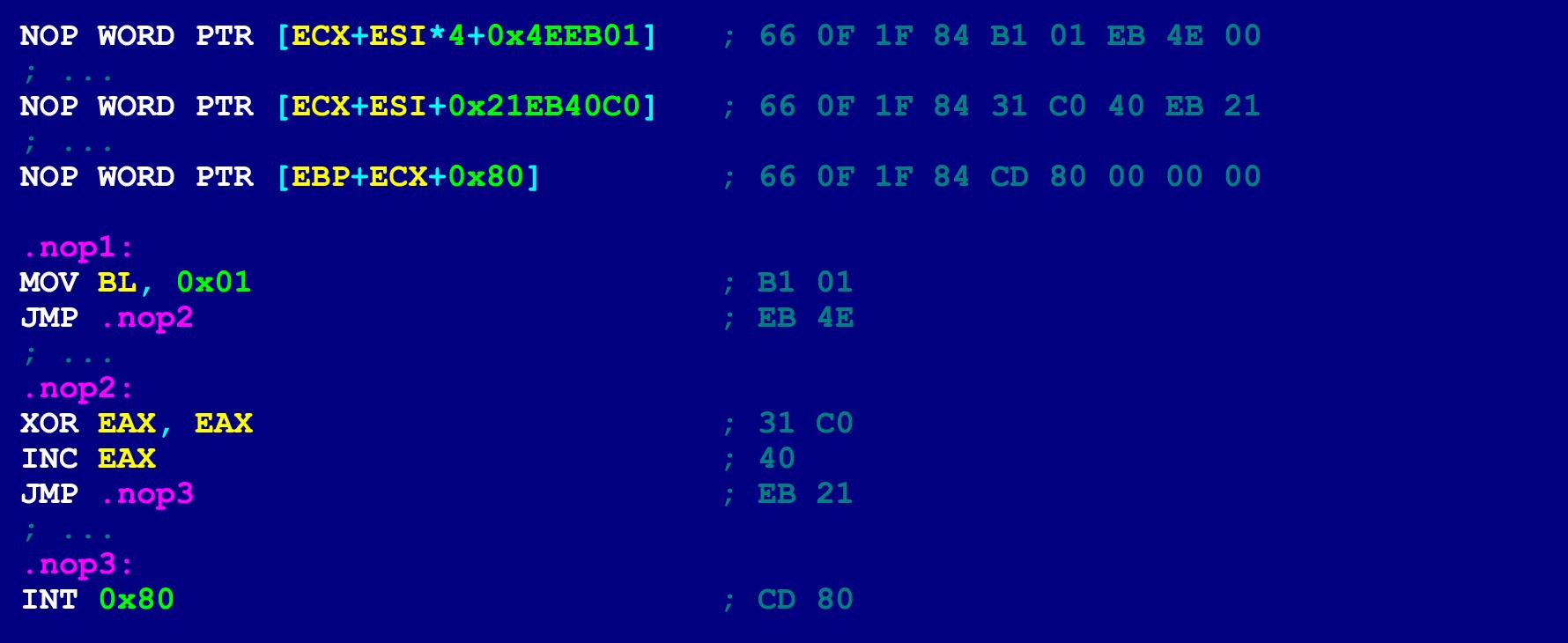 Как написать на ассемблере программу с перекрываемыми инструкциями (ещё одна техника обфускации байт-кода) - 17
