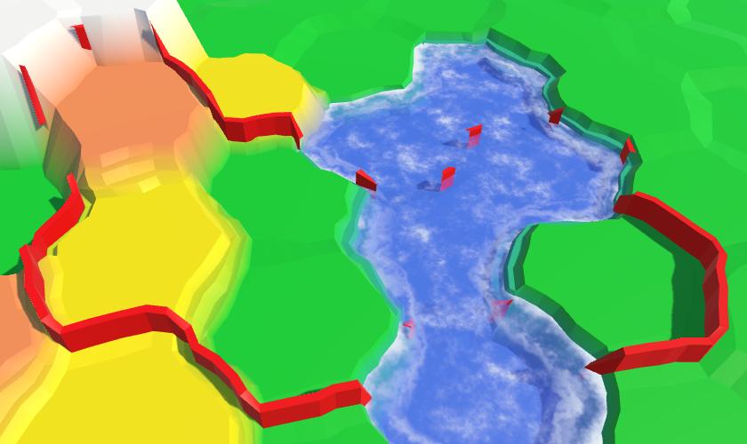 Карты из шестиугольников в Unity: вода, объекты рельефа и крепостные стены - 109