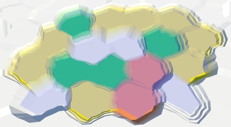 Карты из шестиугольников в Unity: вода, объекты рельефа и крепостные стены - 11