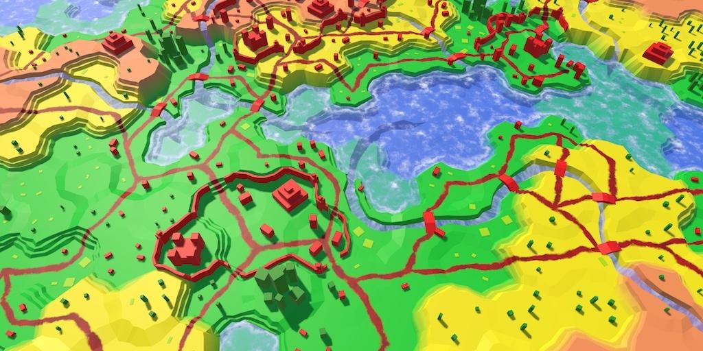 Карты из шестиугольников в Unity: вода, объекты рельефа и крепостные стены - 115