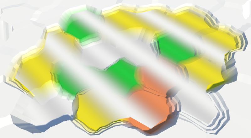 Карты из шестиугольников в Unity: вода, объекты рельефа и крепостные стены - 12
