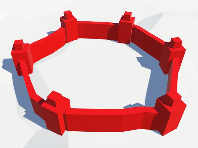 Карты из шестиугольников в Unity: вода, объекты рельефа и крепостные стены - 120