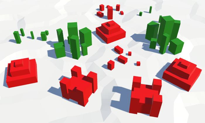 Карты из шестиугольников в Unity: вода, объекты рельефа и крепостные стены - 142
